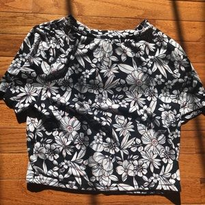 Forever 21 contemporary floral crop top